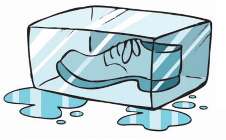 Congele o sapato para acabar com o chulé