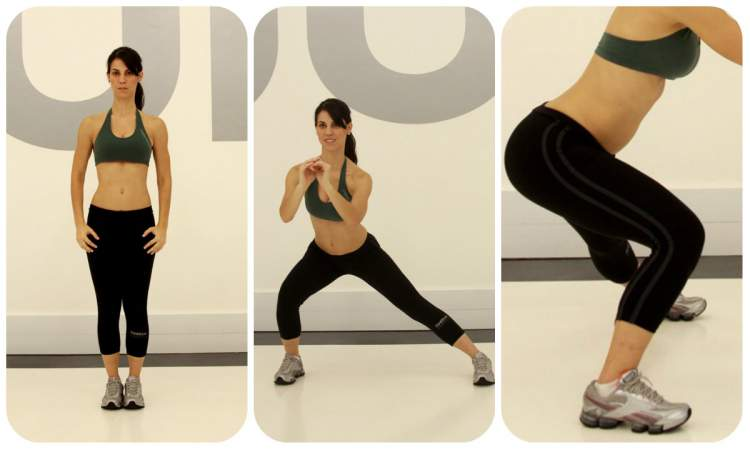 Exercício avanço lateral
