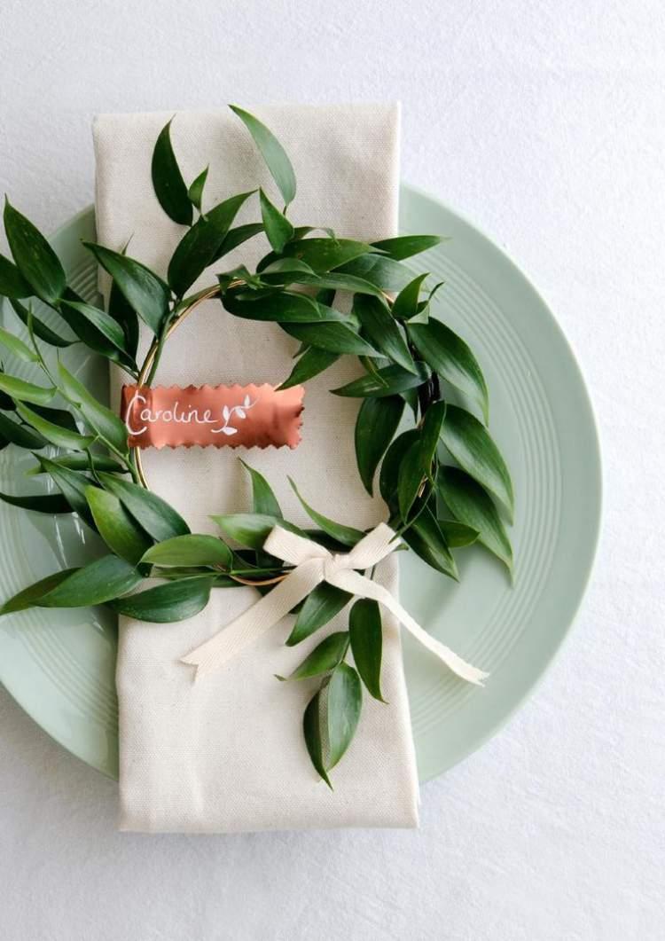 Folhagem na decoração de casamento
