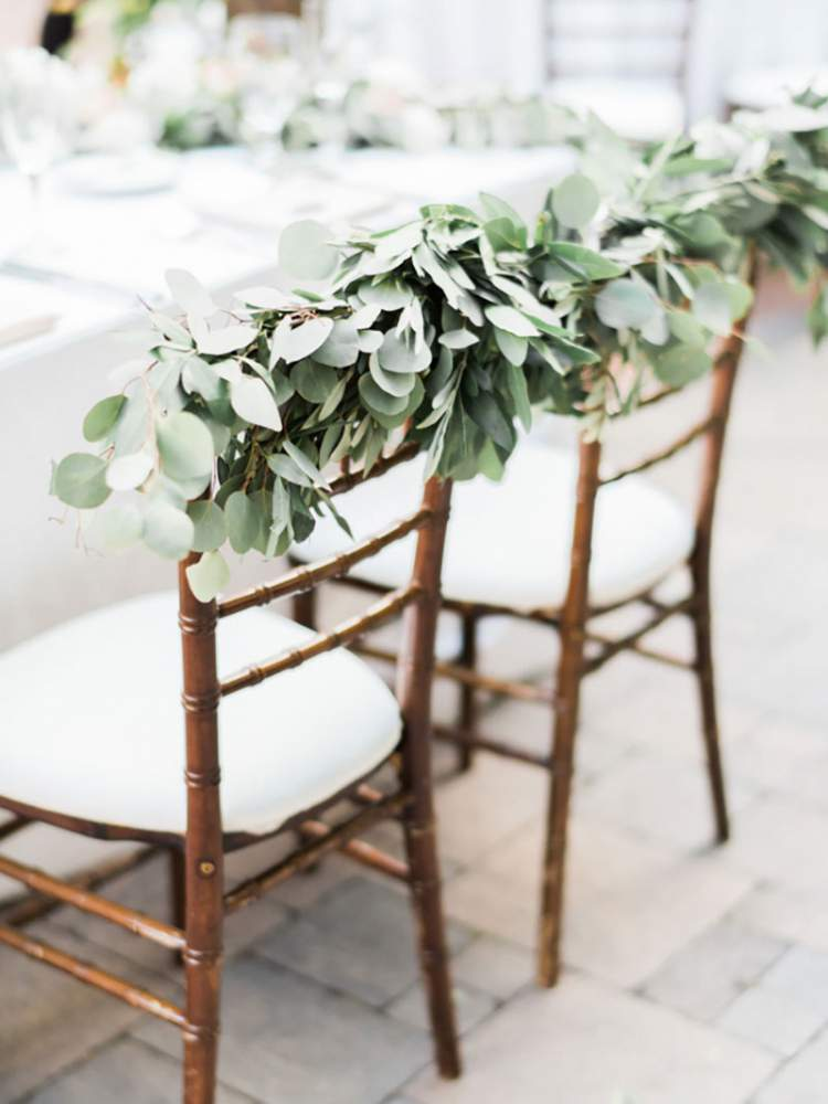 Ideia para fazer uma belíssima decoração de casamento com folhagens