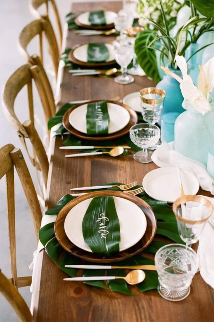 Maneira inovadora de decorar a mesa dos convidados de casamento