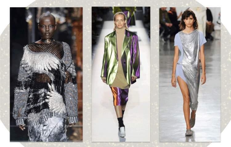Um dos destaques das tendências da moda inverno 2018 é a dupla lurex + lamê