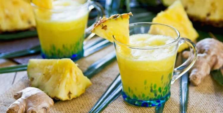 Suco detox de abacaxi + gengibre ajuda a eliminar gordura em pouco tempo