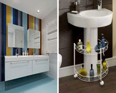 truques para deixar um banheiro pequeno mais espaçoso