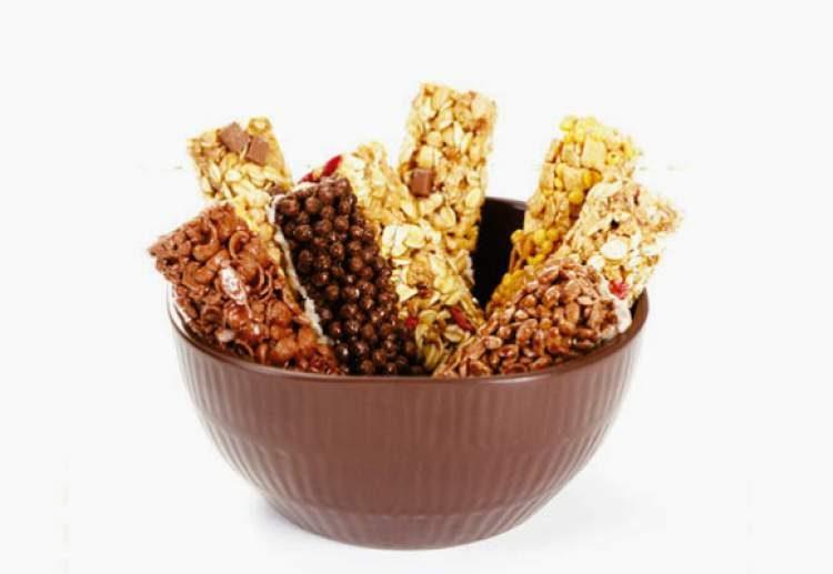 Barrinhas de cereal são alimentos que contém muito açúcar