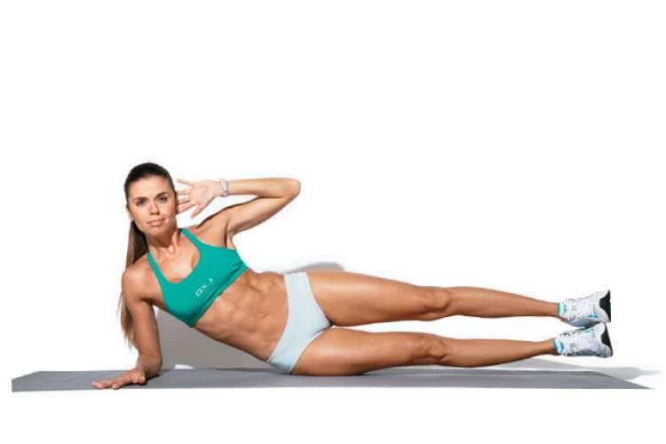 Exercício abdominal com elevação de pernas para tonificar o abdômen