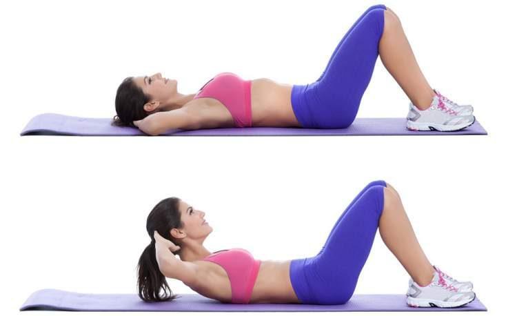 Exercício abdominal supra a infra para tonificar o abdômen
