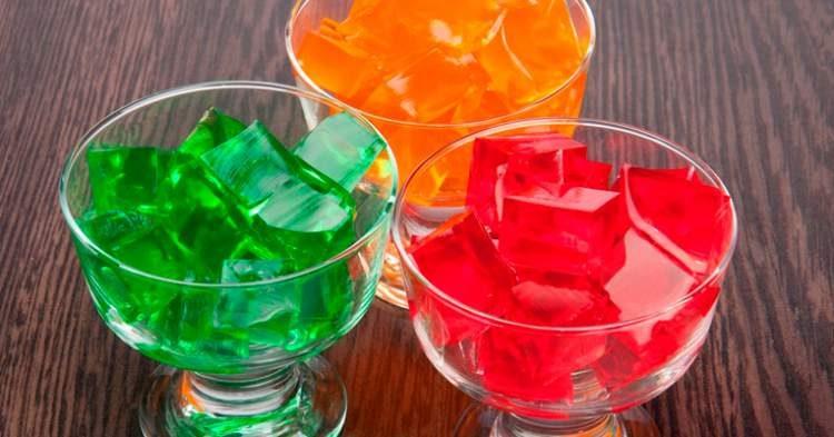 Gelatina é um dos alimentos que contém muito açúcar
