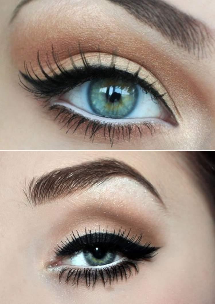 Passe lápis branco na linha d'água dos olhos para deixar os olhos mais expressivos