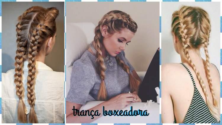 Trança boxeadora é um dos penteados lindos para cabelos longos