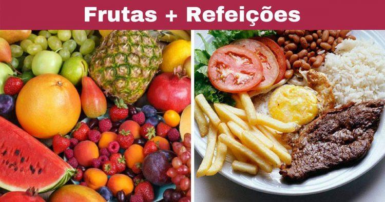 A combinação de frutas e refeições não faz bem