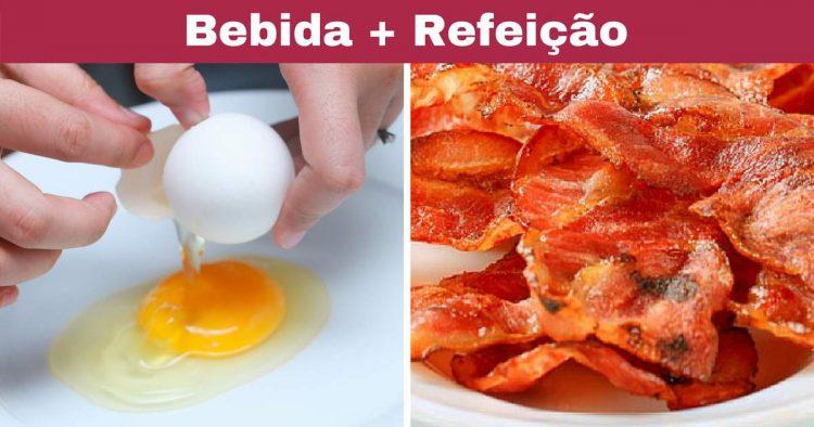 Combinar ovo com bacon não faz bem
