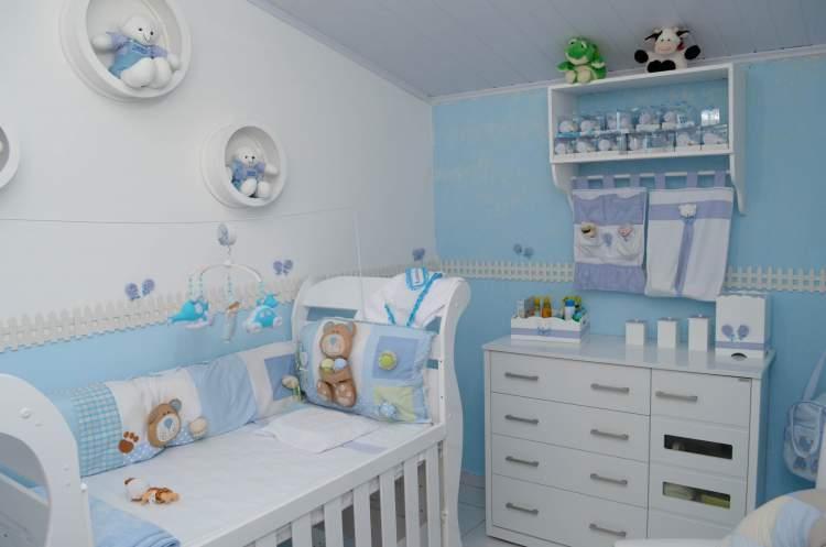 Decoração tradicional para o quarto do bebê