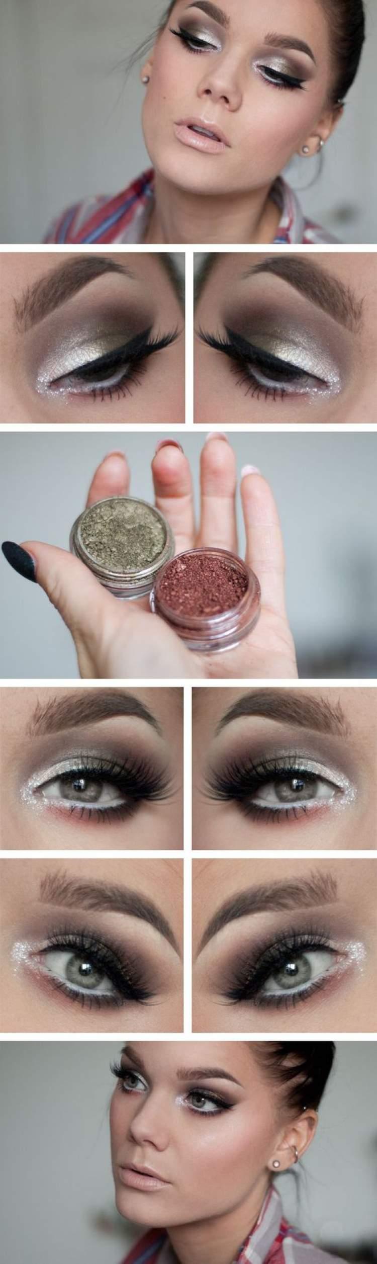 Inspiração de maquiagem para quem tem olhos pequenos