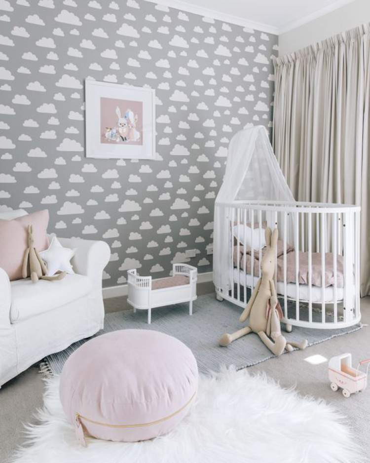 Papel de parede na decoração do quarto do bebê: 28 ideias lindas para você se inspirar