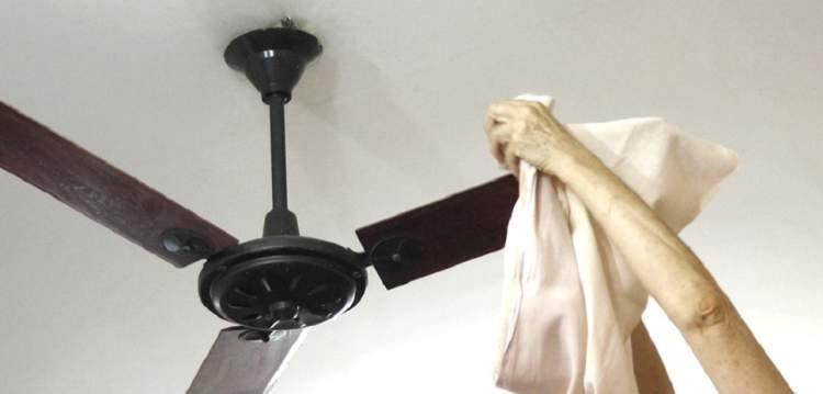 Truque para limpar o ventilador