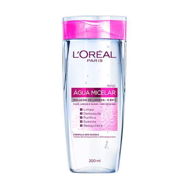 Água Micelar Solução de Limpeza Facial 5 em 1, L'Oréal Paris