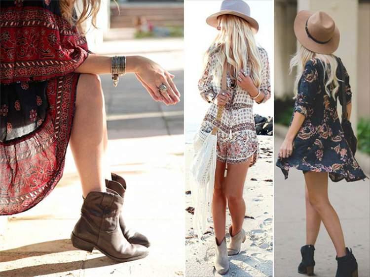 Algo que não pode faltar para o estilo boho no verão 2018 são as ankle boots
