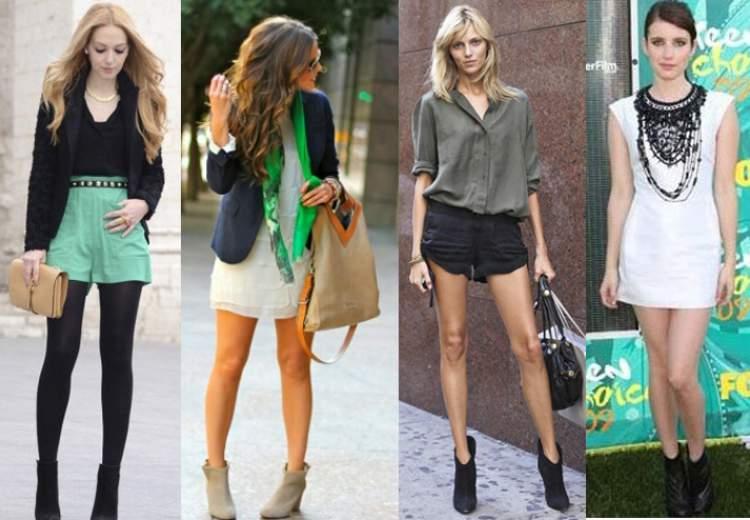 Bota de cano curto com peças curtas ficam excelentes em mulheres altas e magras