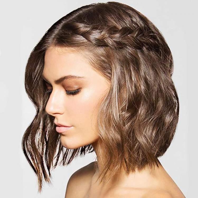 Cabelo para o ano novo: Trança para cabelo curto