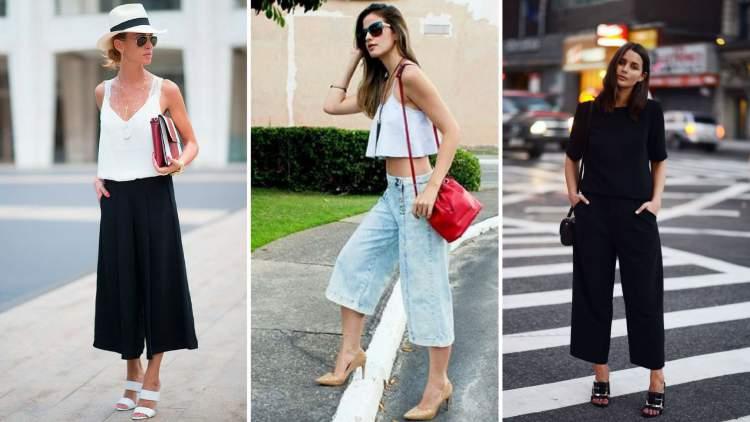 Calça pantacourt entre as principais tendências do verão 2018