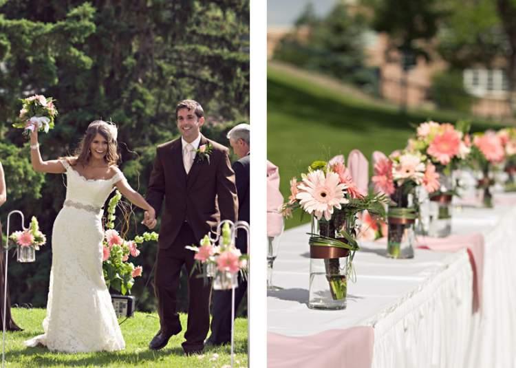 Gérberas na decoração de casamento