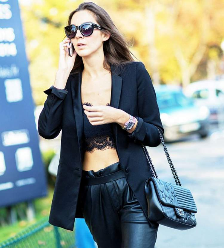 Look Cropped top + blazer