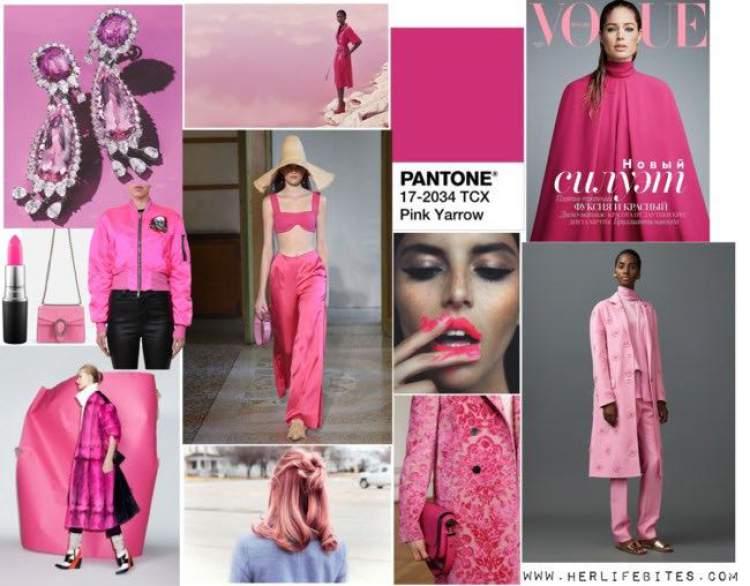 Pink Yarrow e Rosa Millennial entre as principais tendências do verão 2018