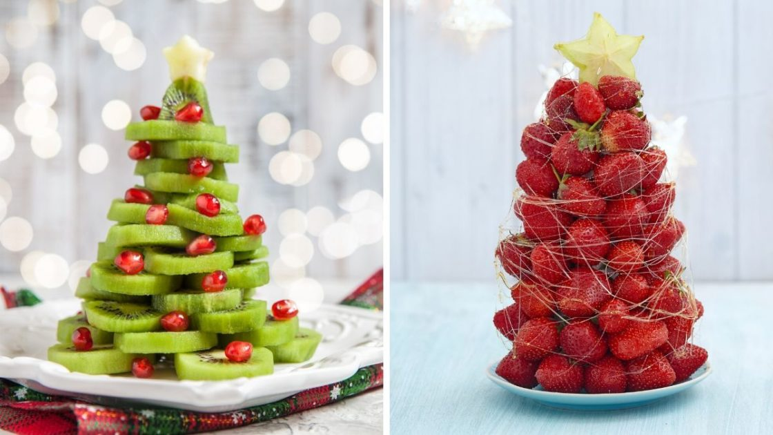 Árvore de Natal com frutas