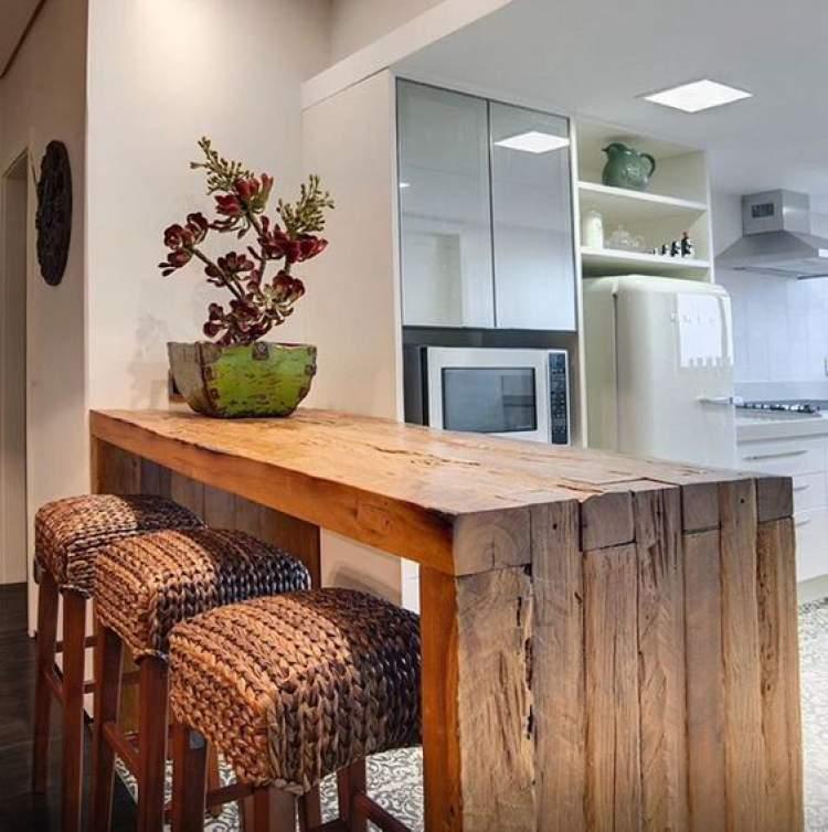 Balcão de cozinha decorativo