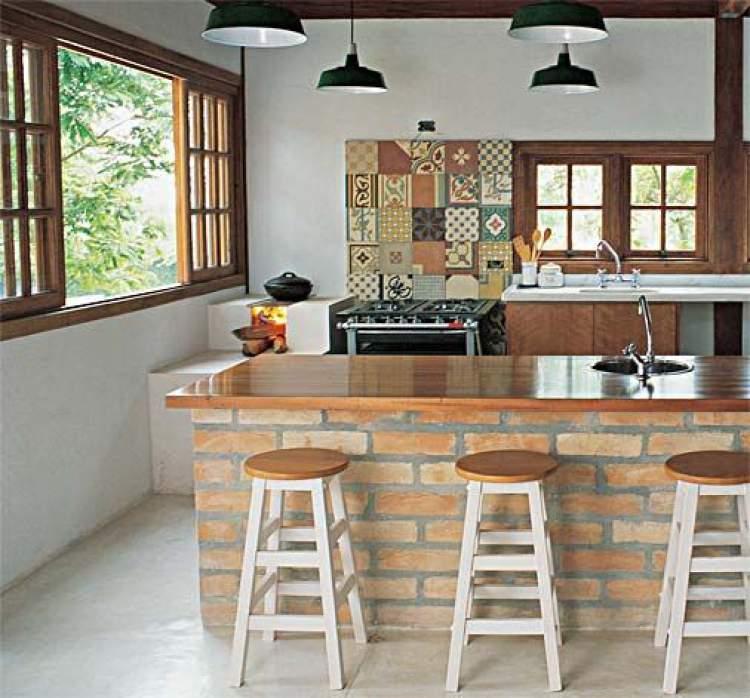 Balcão de cozinha rústico