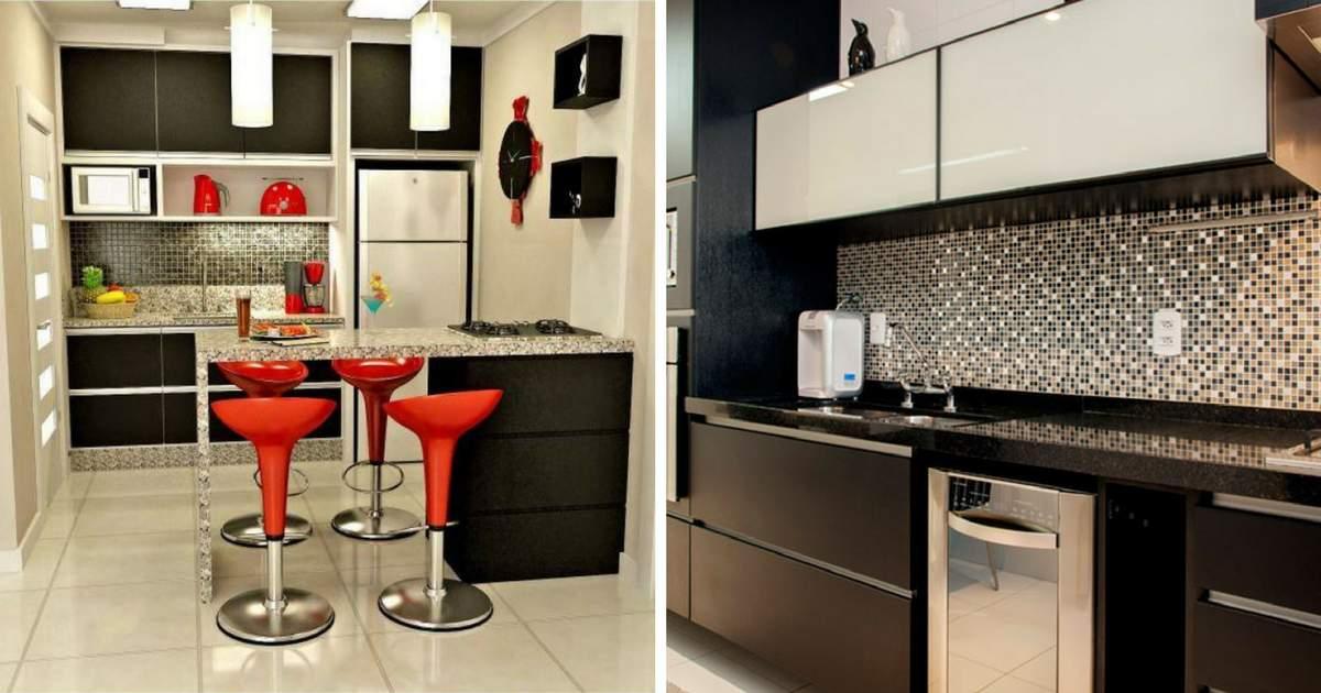 Ideias De Cozinha ~ 10 cozinhas pequenas comótimas ideias Site de Beleza e Moda