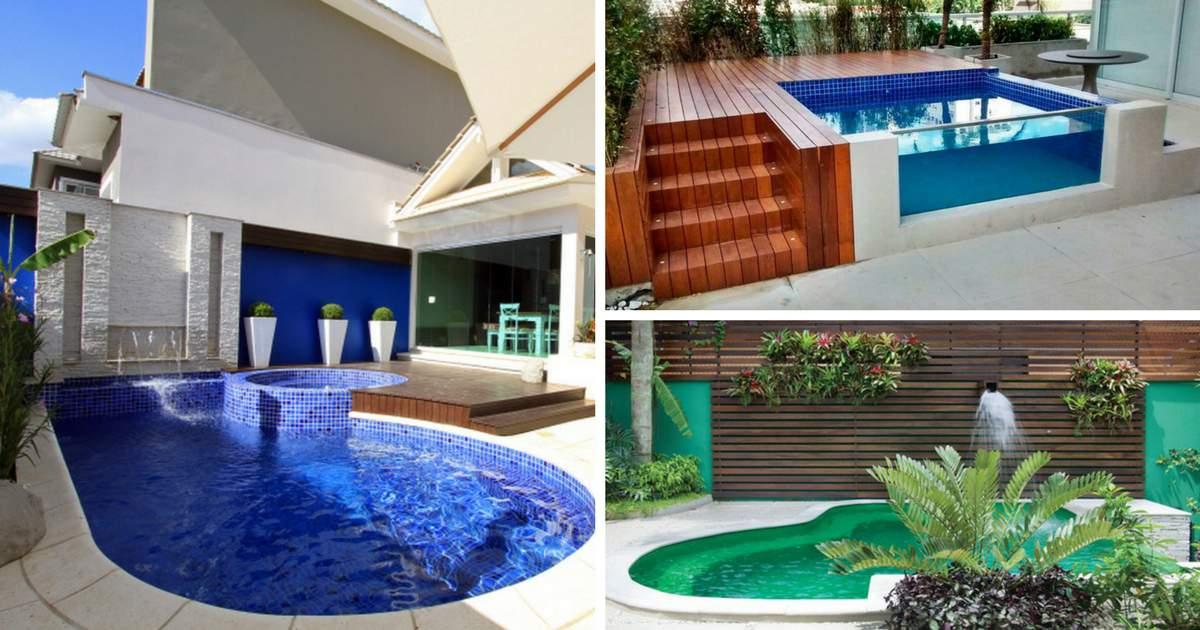 12 vezes que nos apaixonamos pelas piscinas pequenas for Piscinas pequenas para patios pequenos