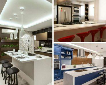 30 inspirações de balcão de cozinha para decorar com muito estilo