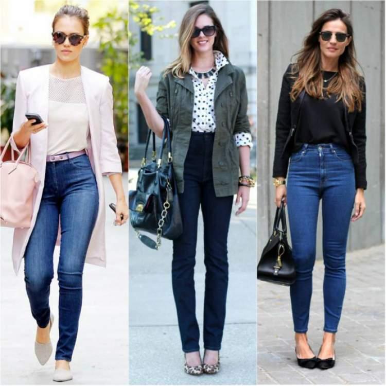 Looks para mulheres altas e magras com bolsa grande
