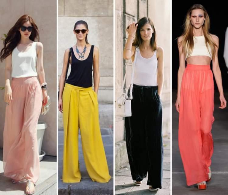 Looks para mulheres altas e magras com duas ou mais cores
