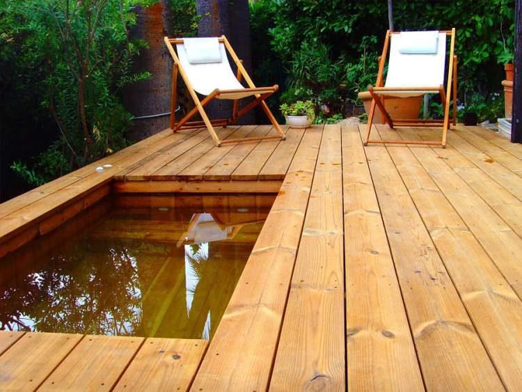 12 vezes que nos apaixonamos pelas piscinas pequenas for Piscina madera pequena