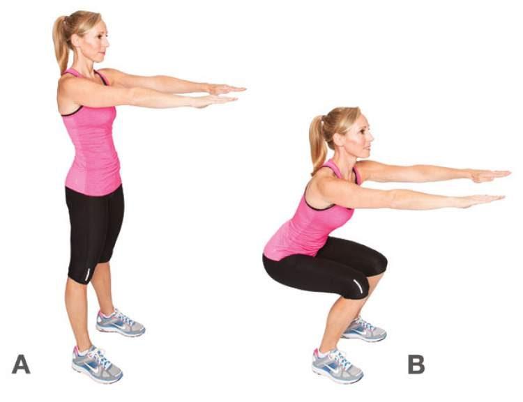 Exercício de agachamento para secar a barriga