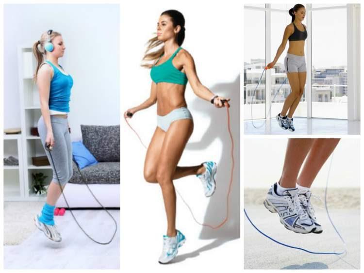 Exercício de pular corda para secar a barriga