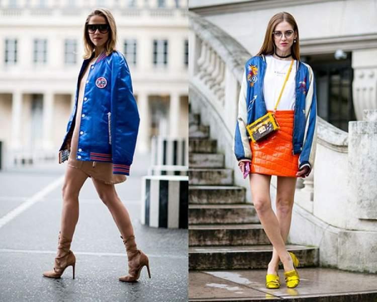 Look com jaqueta esportiva