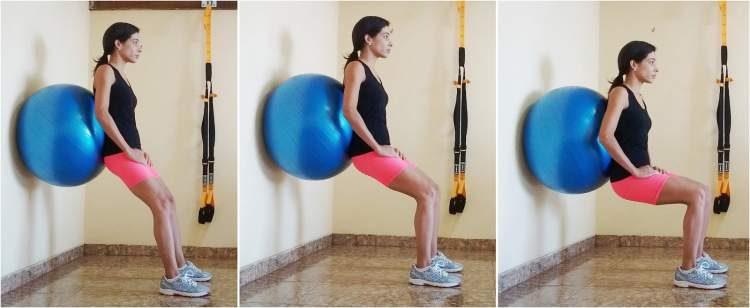 Agachamento com bola é um dos melhores exercícios para aumentar os glúteos