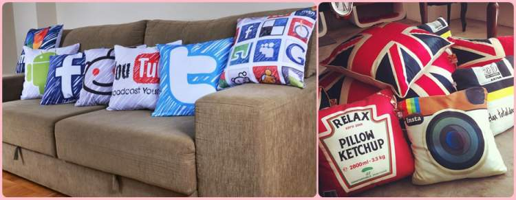 Almofadas que tornam a decoração luxuosa