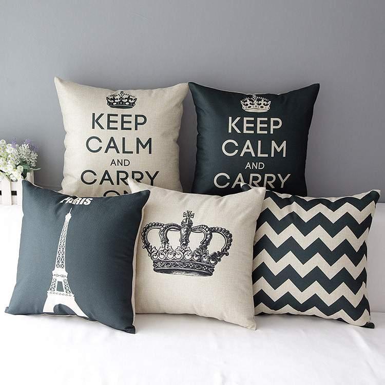 Almofadas para decorar gastando pouco