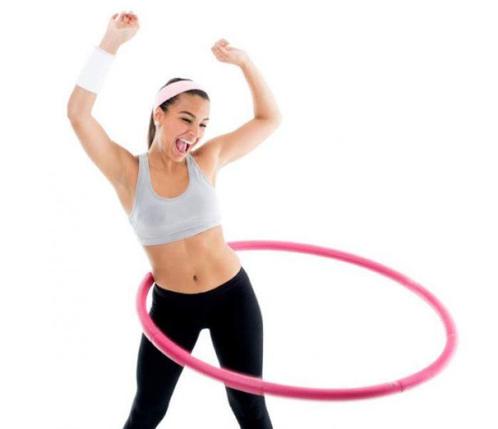 Exercício com bambolê para secar a barriga