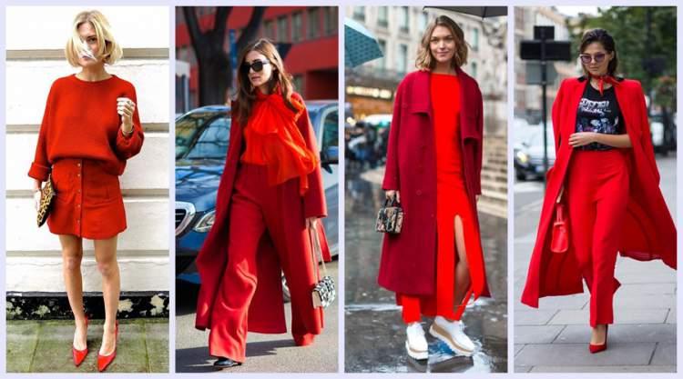 Look vermelho é tendência do inverno 2018