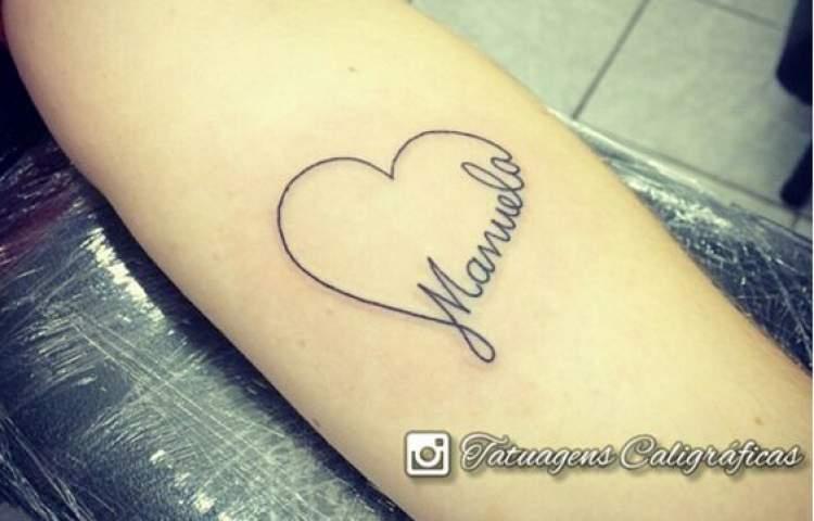 Tatuagem para fazer homenagem