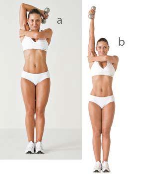 Tríceps francês unilateral é um dos melhores exercícios para definir o músculo do tchauzinho
