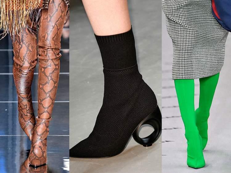 Botas em forma de meia calça é a sensação do inverno 2018
