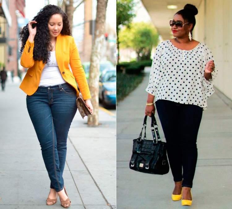 Calça jeans skinny fica bem em qualquer corpo