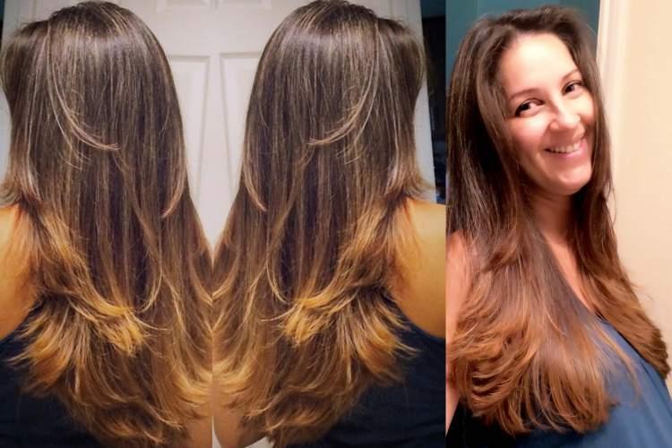 Corte em U é uma das ideias de cortes de cabelo longo